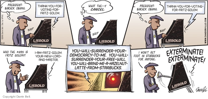 Comic Strip Darrin Bell  Candorville 2008-11-02 voting rights