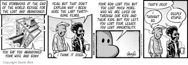 Cartoonist Darrin Bell  Candorville 2008-11-05 parenting