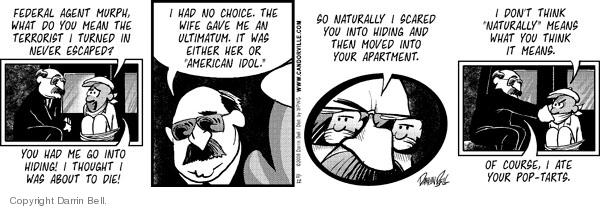 Comic Strip Darrin Bell  Candorville 2008-11-12 pop tart