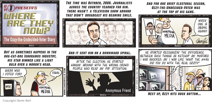 Comic Strip Darrin Bell  Candorville 2008-11-16 2008 election