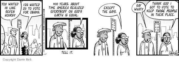 Comic Strip Darrin Bell  Candorville 2008-11-17 gay marriage