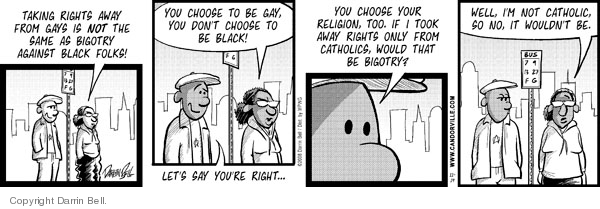 Comic Strip Darrin Bell  Candorville 2008-11-19 gay rights