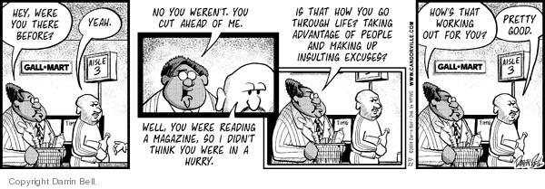 Cartoonist Darrin Bell  Candorville 2008-11-22 wait