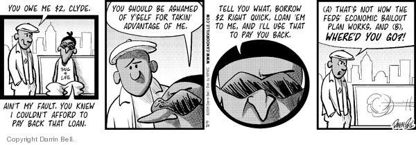 Comic Strip Darrin Bell  Candorville 2008-11-24 Federal government
