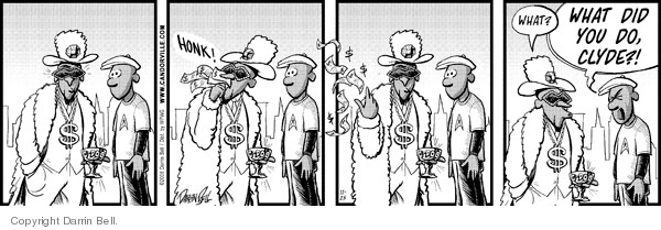 Comic Strip Darrin Bell  Candorville 2008-11-25 honk