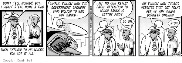 Comic Strip Darrin Bell  Candorville 2008-11-26 nowhere
