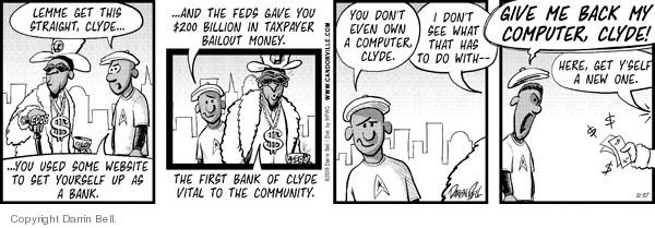 Comic Strip Darrin Bell  Candorville 2008-11-27 Federal government