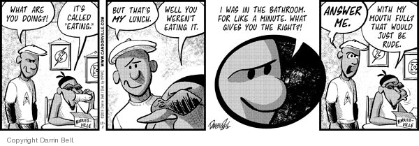 Comic Strip Darrin Bell  Candorville 2008-12-02 lunch