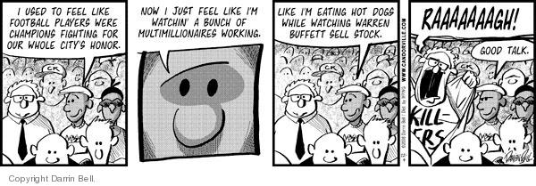 Comic Strip Darrin Bell  Candorville 2008-12-04 football player