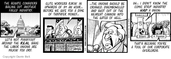 Comic Strip Darrin Bell  Candorville 2008-12-15 labor
