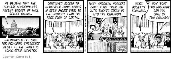 Comic Strip Darrin Bell  Candorville 2008-12-17 United States government