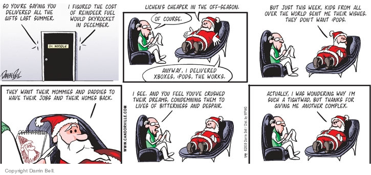 Comic Strip Darrin Bell  Candorville 2008-12-21 north pole