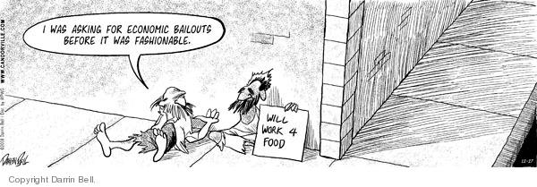 Comic Strip Darrin Bell  Candorville 2008-12-27 bailout