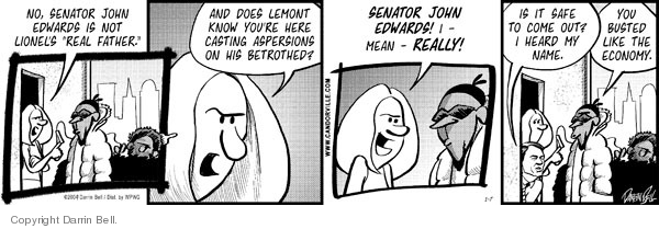 Cartoonist Darrin Bell  Candorville 2009-01-07 John
