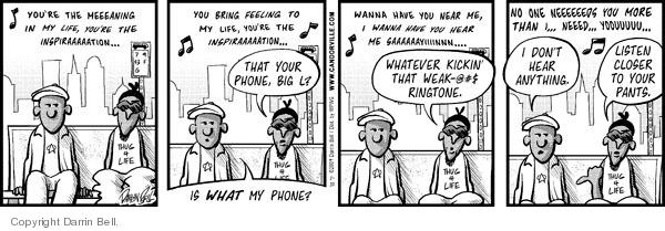 Comic Strip Darrin Bell  Candorville 2009-01-10 cell phone