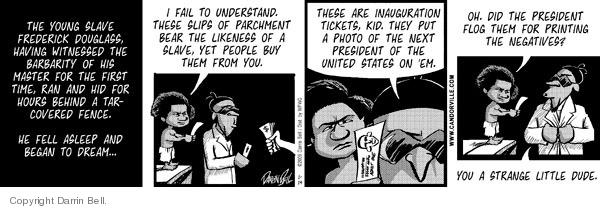 Comic Strip Darrin Bell  Candorville 2009-01-14 witness