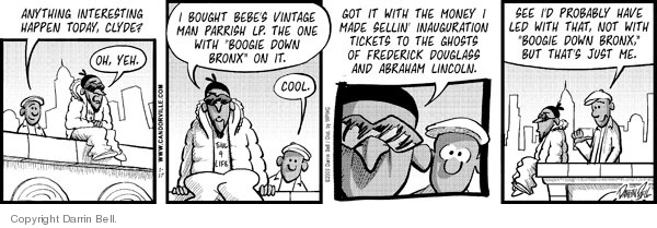 Comic Strip Darrin Bell  Candorville 2009-01-17 Abraham Lincoln