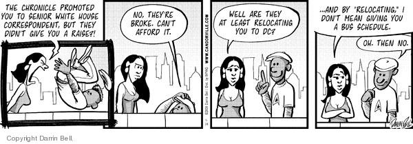 Cartoonist Darrin Bell  Candorville 2009-01-24 job