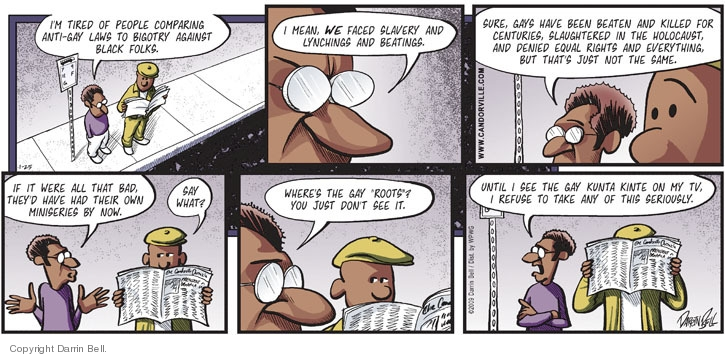 Comic Strip Darrin Bell  Candorville 2009-01-25 gay rights