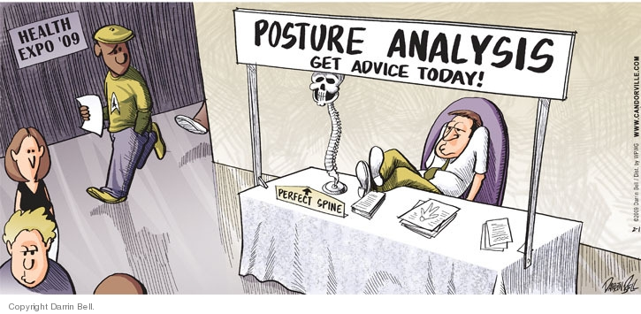 Health Expo 09.  Posture Analysis.  Get advice today!  Perfect spine.