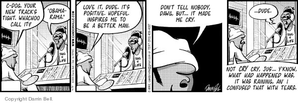 Comic Strip Darrin Bell  Candorville 2009-02-02 tear