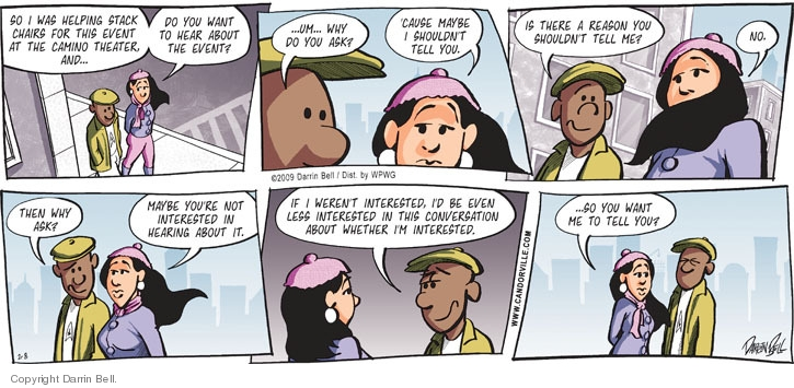 Comic Strip Darrin Bell  Candorville 2009-02-08 brown