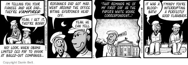 Cartoonist Darrin Bell  Candorville 2009-02-16 correspondent