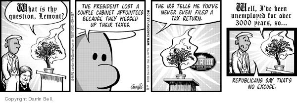 Comic Strip Darrin Bell  Candorville 2009-02-20 tax payment