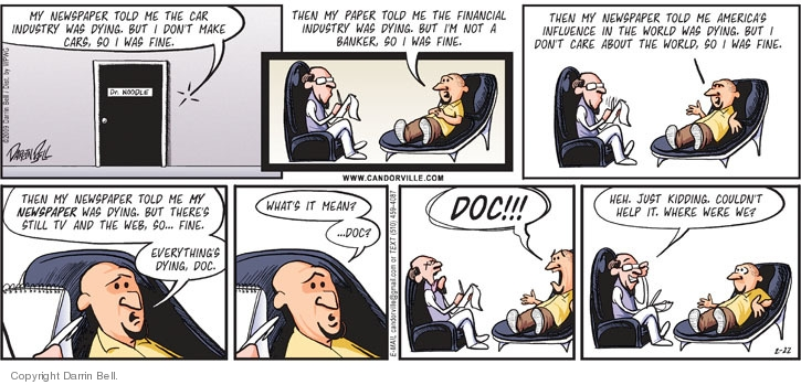 Comic Strip Darrin Bell  Candorville 2009-02-22 financial crisis