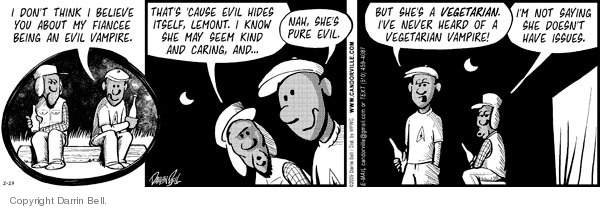 Comic Strip Darrin Bell  Candorville 2009-02-23 hide