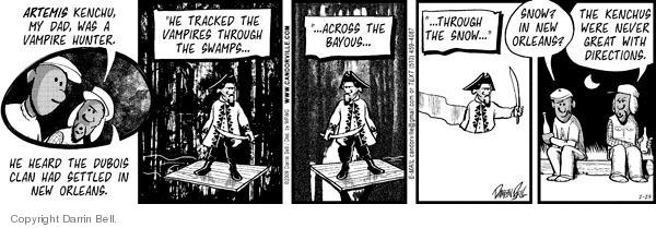 Comic Strip Darrin Bell  Candorville 2009-02-25 snow