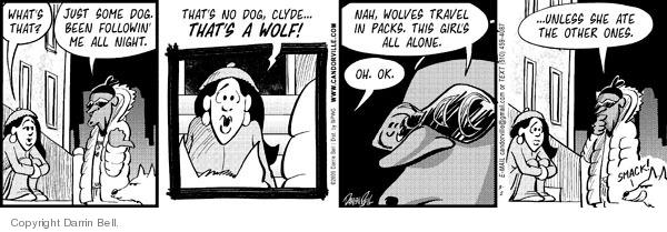 Comic Strip Darrin Bell  Candorville 2009-03-02 wolf