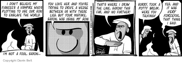 Comic Strip Darrin Bell  Candorville 2009-03-13 nowhere