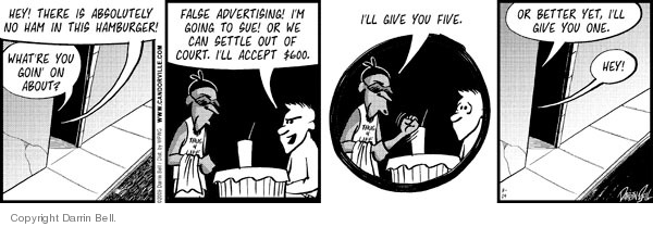 Comic Strip Darrin Bell  Candorville 2009-03-14 hamburger