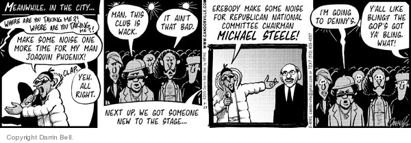Comic Strip Darrin Bell  Candorville 2009-03-23 GOP