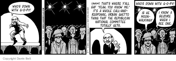 Comic Strip Darrin Bell  Candorville 2009-03-24 GOP