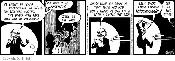 Comic Strip Darrin Bell  Candorville 2009-03-26 GOP