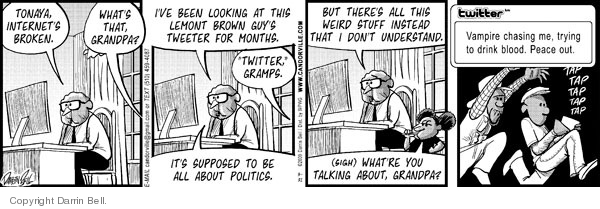 Comic Strip Darrin Bell  Candorville 2009-03-31 grandfather