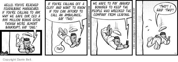 Comic Strip Darrin Bell  Candorville 2009-04-09 bailout