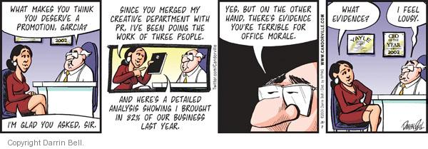 Comic Strip Darrin Bell  Candorville 2011-12-07 employment work