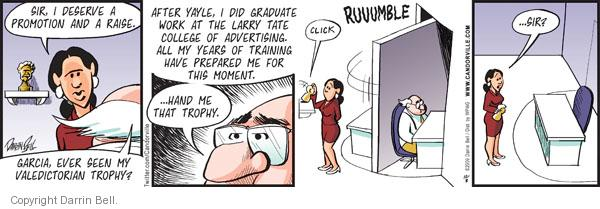 Comic Strip Darrin Bell  Candorville 2011-12-08 business school