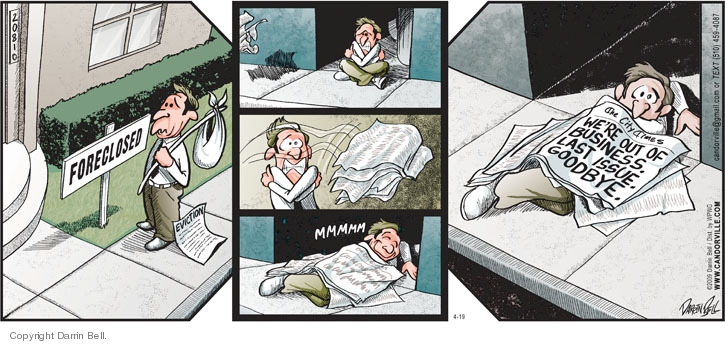 Comic Strip Darrin Bell  Candorville 2009-04-19 goodbye