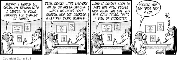 Comic Strip Darrin Bell  Candorville 2009-04-22 law firm