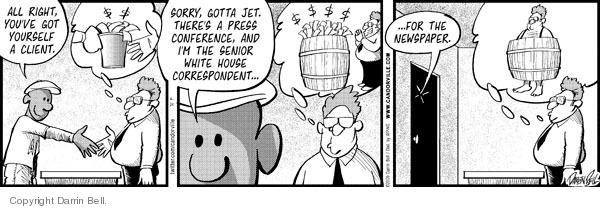 Cartoonist Darrin Bell  Candorville 2009-04-24 job