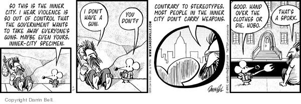 Comic Strip Darrin Bell  Candorville 2009-04-27 stereotypical