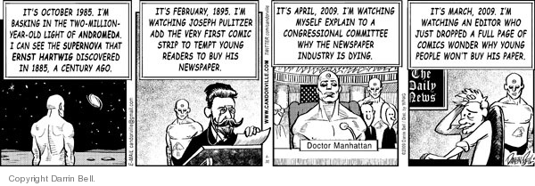 Comic Strip Darrin Bell  Candorville 2009-04-30 superhero