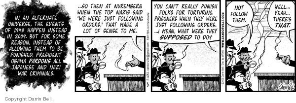 Comic Strip Darrin Bell  Candorville 2009-05-08 alternate universe