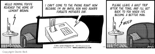 Comic Strip Darrin Bell  Candorville 2009-05-18 Mother's Day