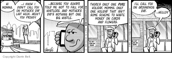 Comic Strip Darrin Bell  Candorville 2009-05-19 Mother's Day