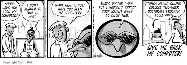 Cartoonist Darrin Bell  Candorville 2009-05-20 doctor